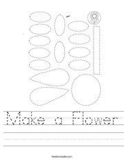 Make a Flower Handwriting Sheet