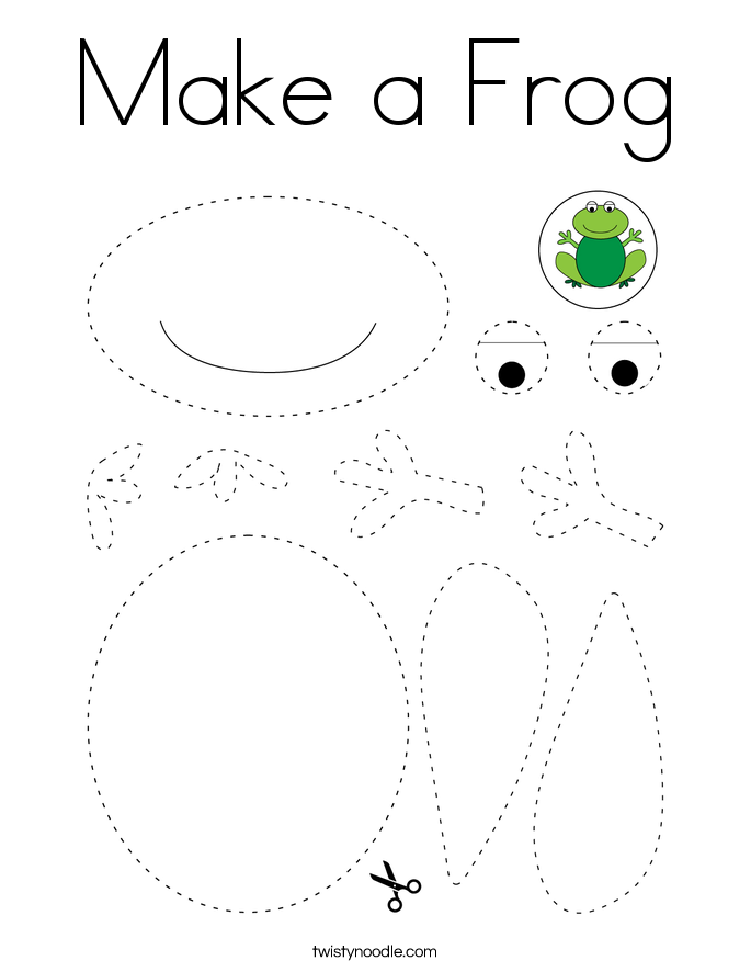 Make a Frog Coloring Page