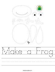 Make a Frog Handwriting Sheet