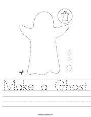 Make a Ghost Handwriting Sheet