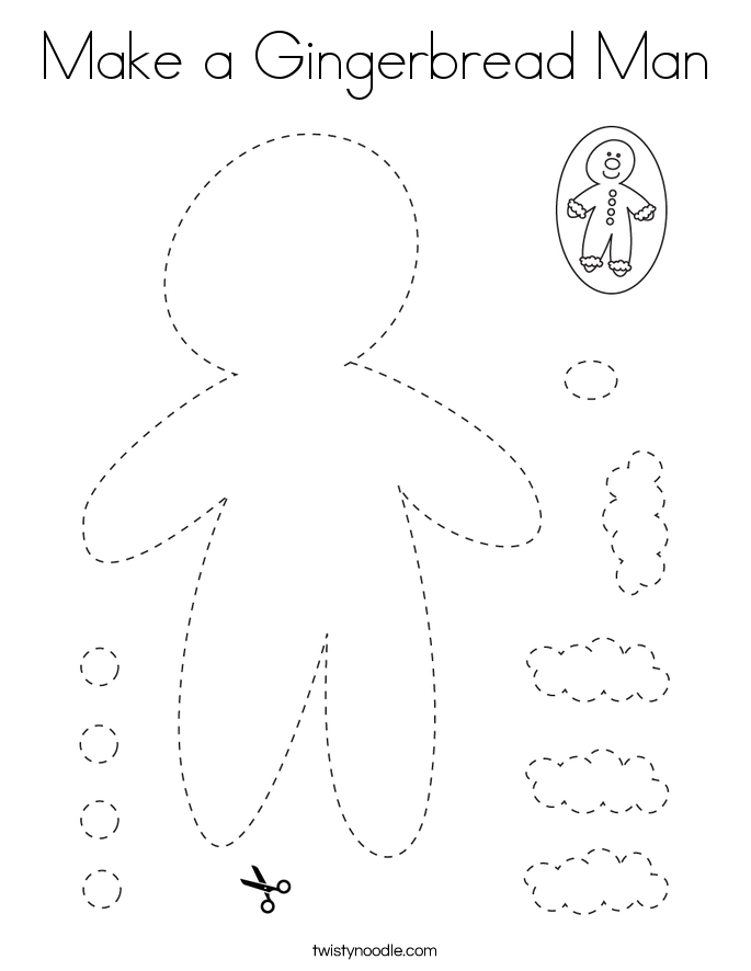 Make a Gingerbread Man Coloring Page