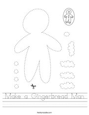 Make a Gingerbread Man Handwriting Sheet