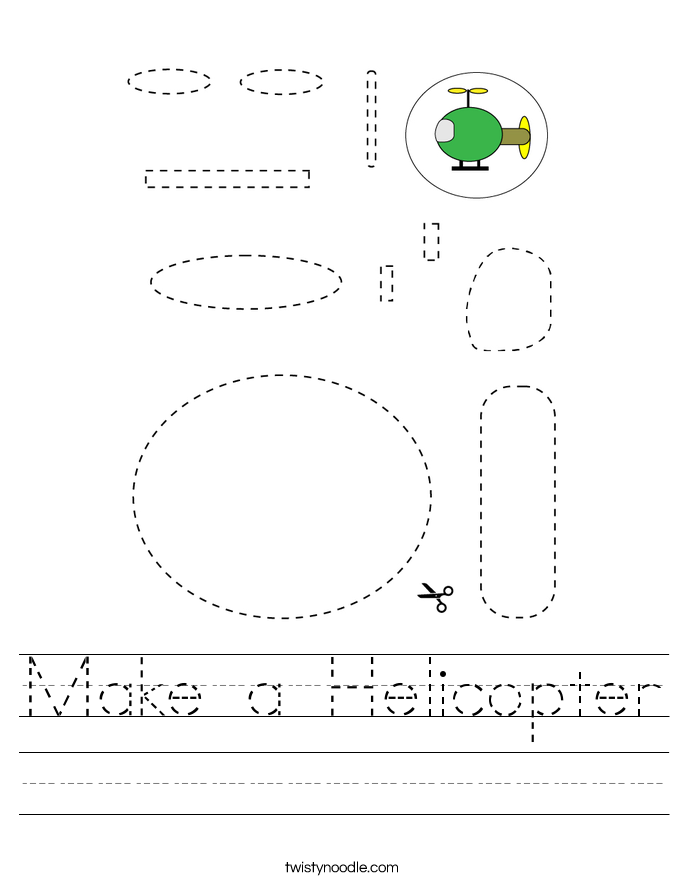Make a Helicopter Worksheet