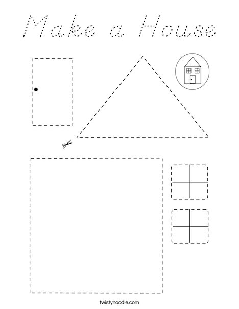 Make a House Coloring Page