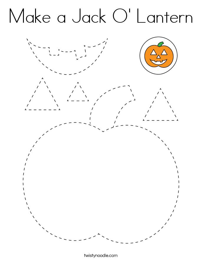 Make a Jack O' Lantern Coloring Page