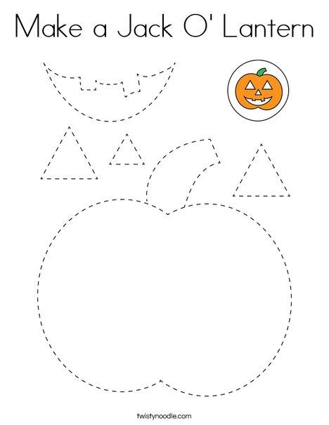 Make a Jack-O'-Lantern Coloring Page