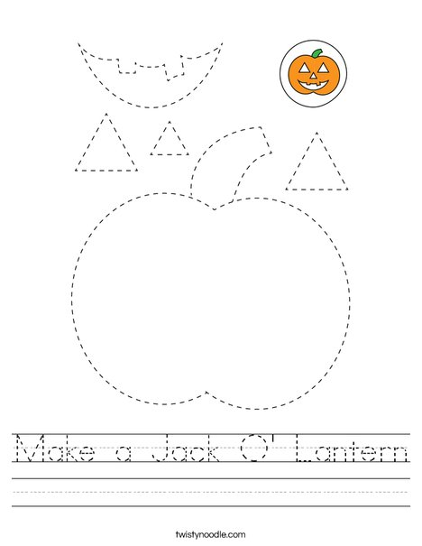 Make a Jack-O'-Lantern Worksheet