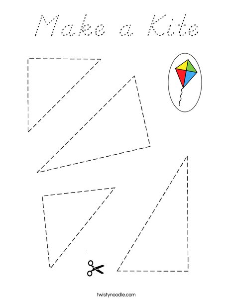Make a Kite Coloring Page