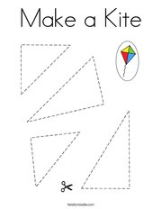 Make a Kite Coloring Page