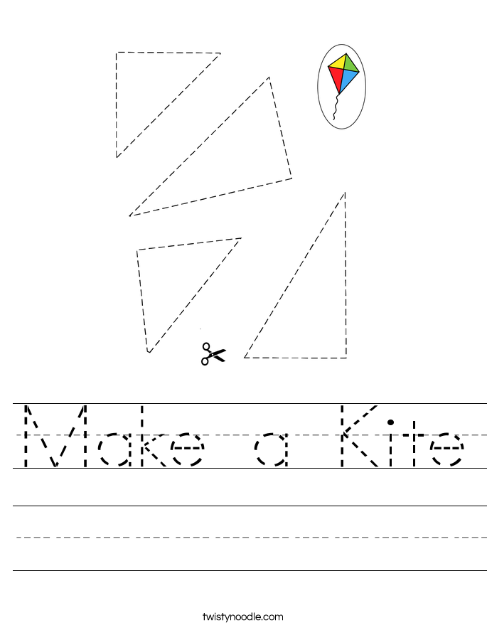 Make a Kite Worksheet