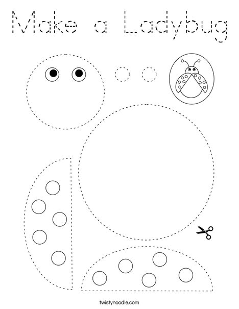 Make a Ladybug Coloring Page