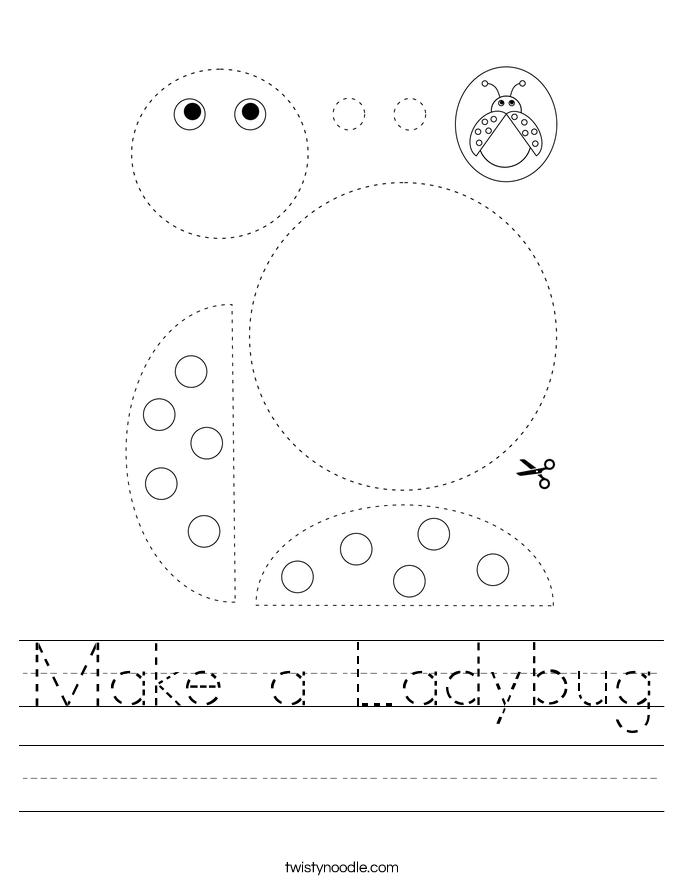 Make a Ladybug Worksheet