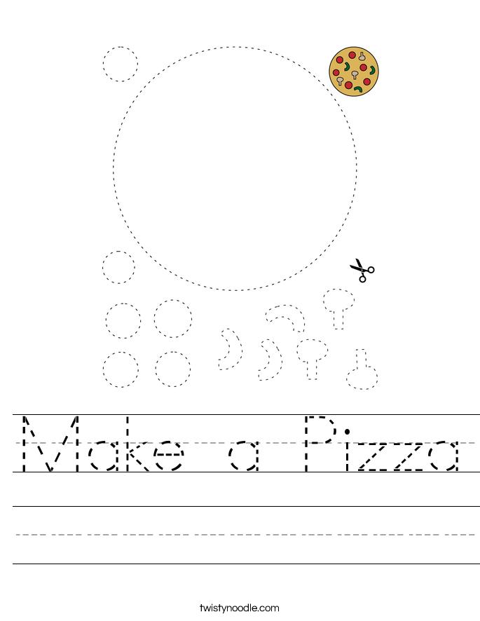 Make a Pizza Worksheet