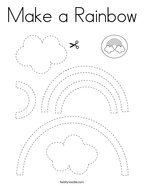 Make a Rainbow Coloring Page