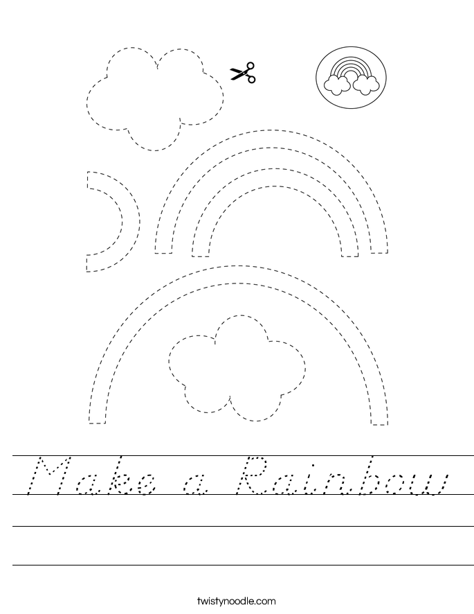 Make a Rainbow Worksheet