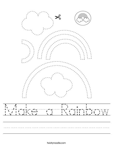 Make a Rainbow Worksheet