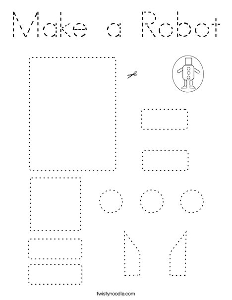 Make a Robot Coloring Page