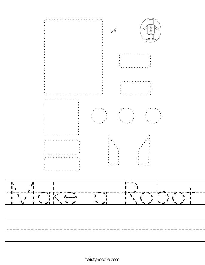 Make a Robot Worksheet