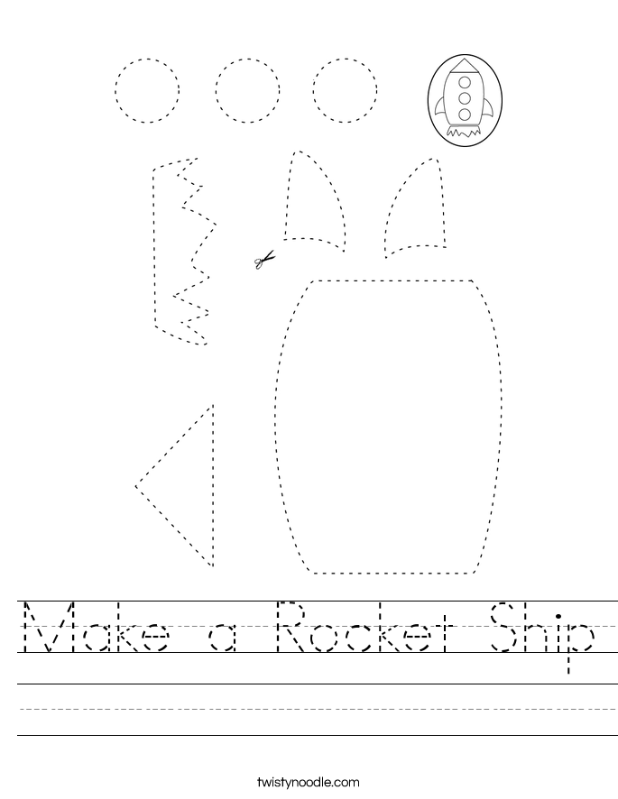 Make a Rocket Ship Worksheet