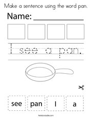 Make a sentence using the word pan Coloring Page