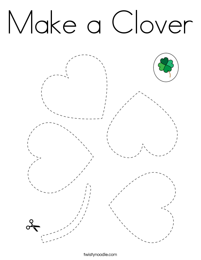 Make a Clover Coloring Page