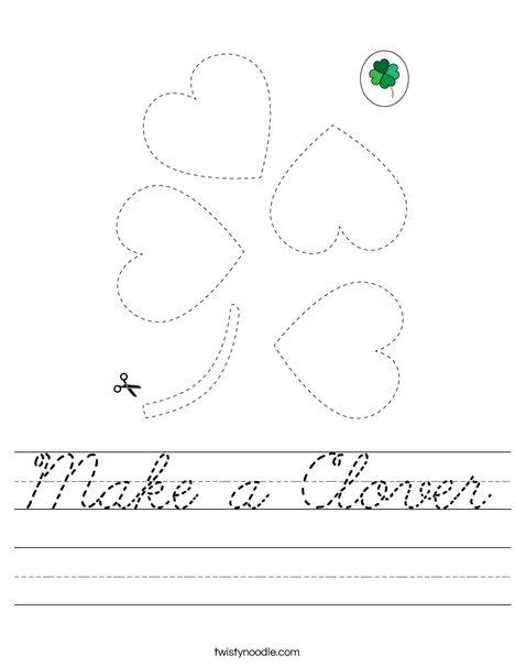 Make a Shamrock Worksheet