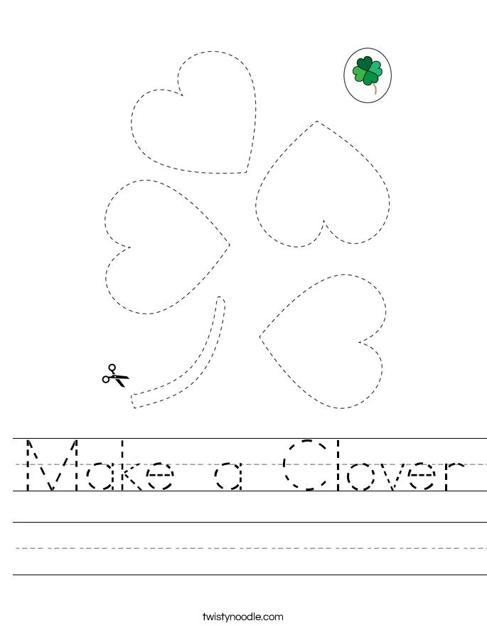 Make a Clover Worksheet
