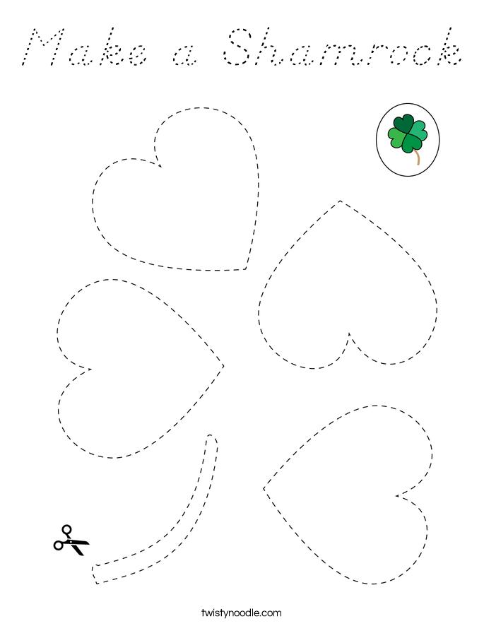Make a Shamrock Coloring Page