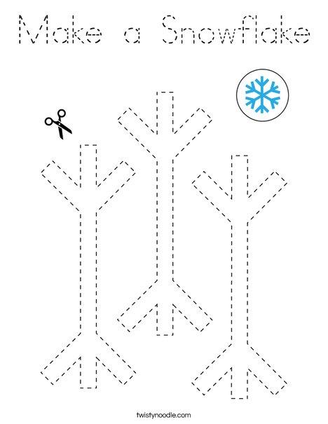 Make a Snowflake Coloring Page