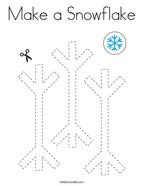 Make a Snowflake Coloring Page