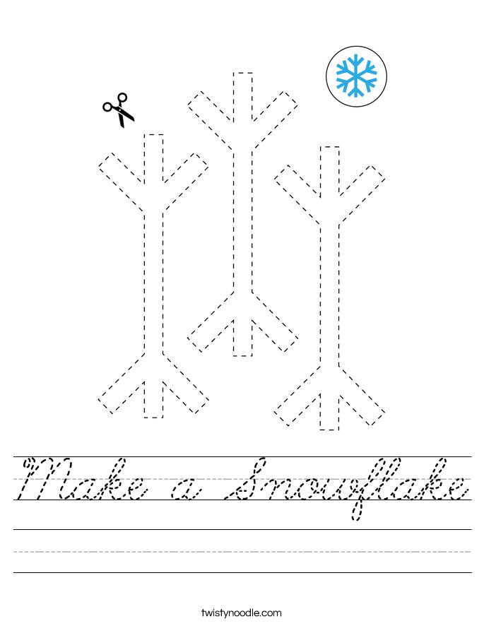 Make a Snowflake Worksheet