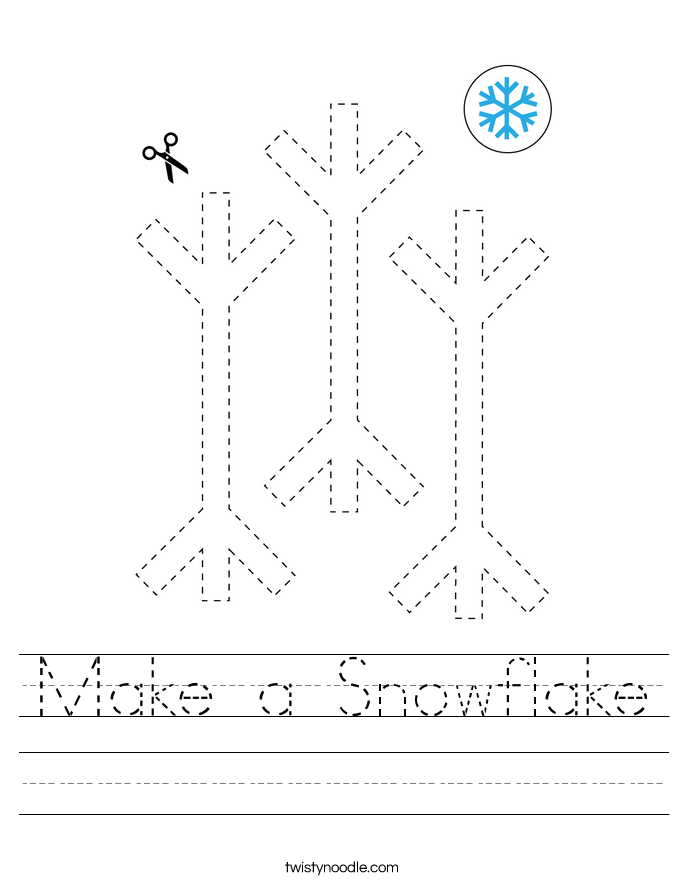 Make a Snowflake Worksheet
