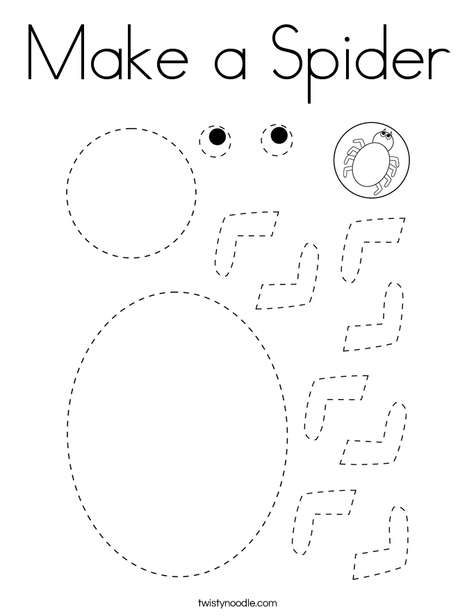 Make a Spider Coloring Page