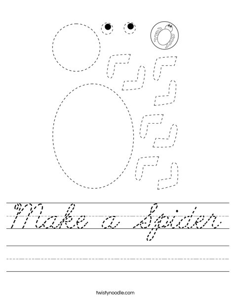 Make a Spider Worksheet
