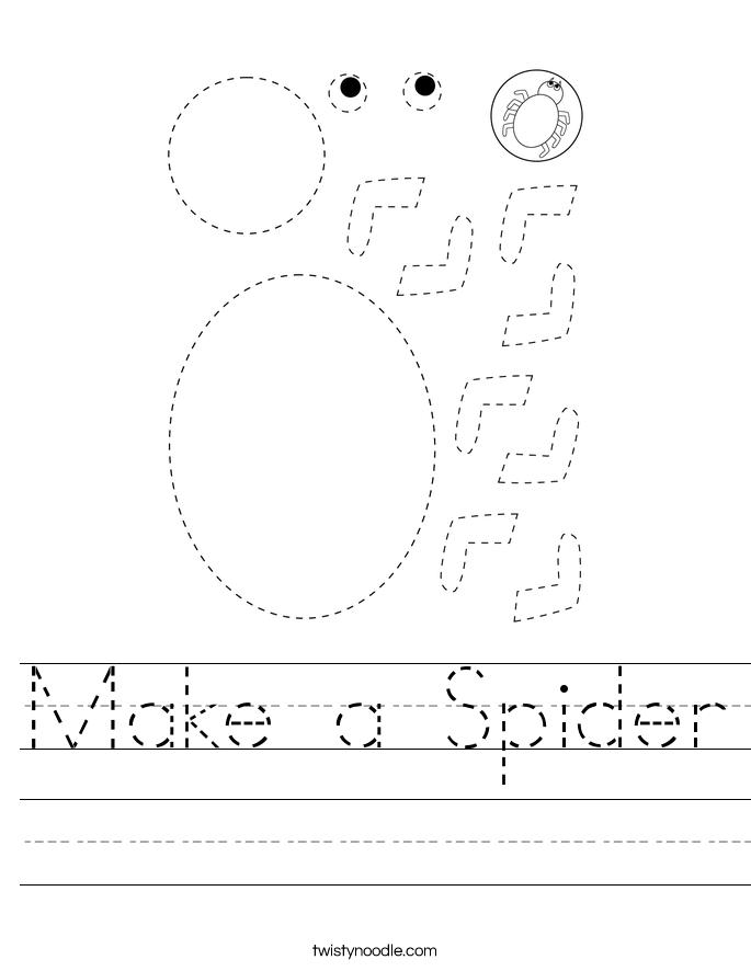 Make a Spider Worksheet
