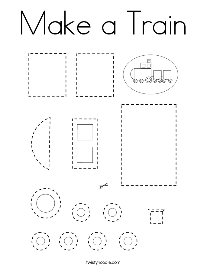 Make a Train Coloring Page