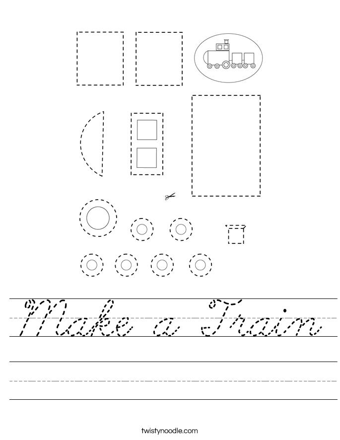 Make a Train Worksheet