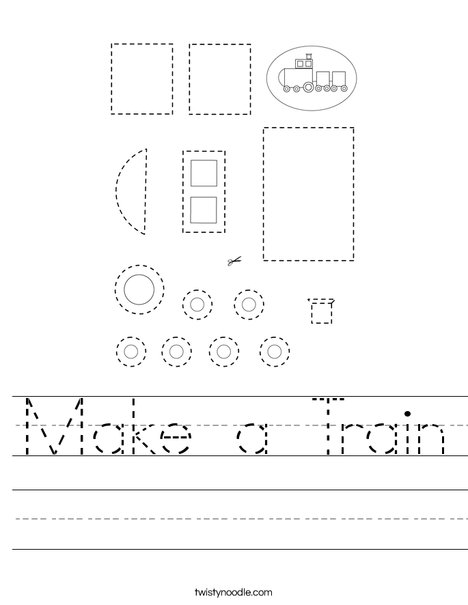 Make a Train Worksheet