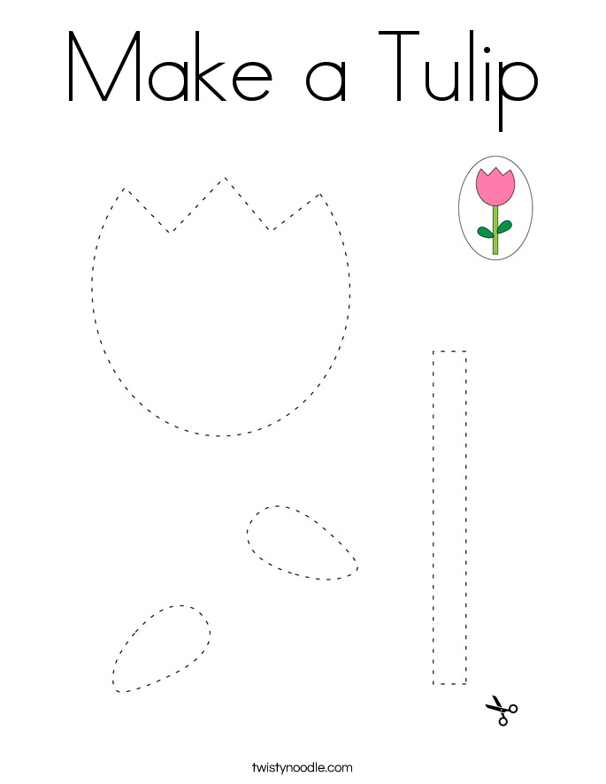 Make a Tulip Coloring Page