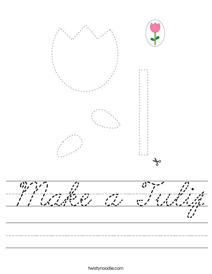 Make a Tulip Worksheet