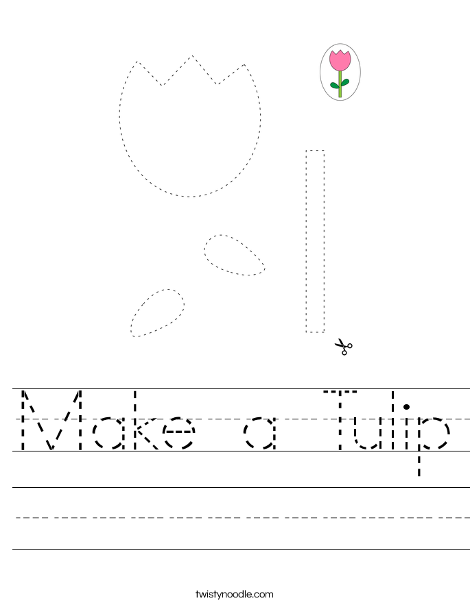 Make a Tulip Worksheet