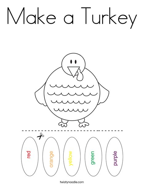 Make a Turkey Coloring Page