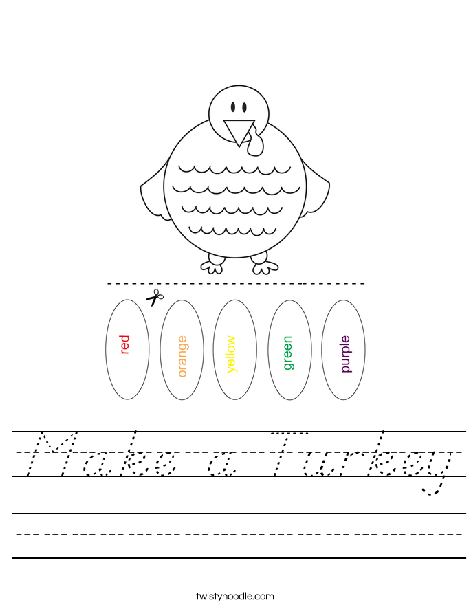 Make a Turkey Worksheet