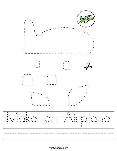 Make an Airplane Worksheet