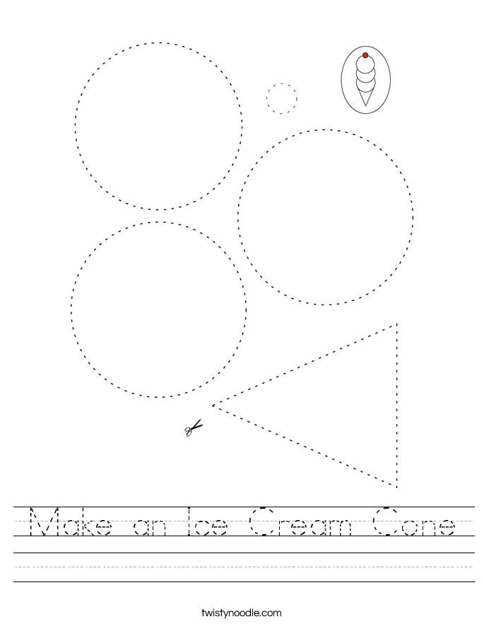 Make an Ice Cream Cone Worksheet