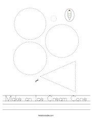 Make an Ice Cream Cone Handwriting Sheet
