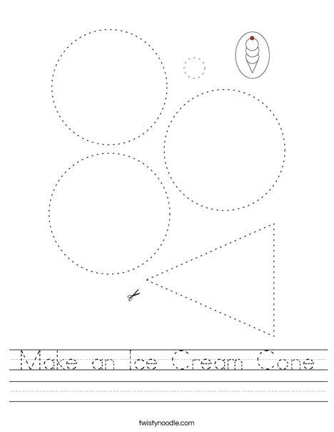 Make an Ice Cream Cone Worksheet