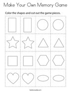 Make Your Own Memory Game Coloring Page