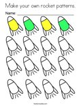 Make your own rocket patterns. Coloring Page