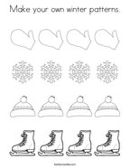 Make your own winter patterns Coloring Page